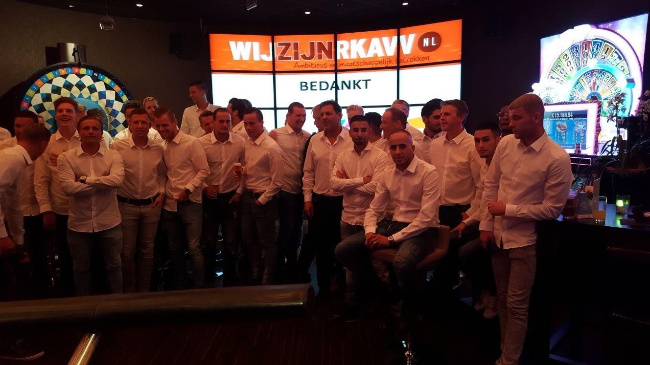 RKAVV selectie presenteert zich in Holland Casino