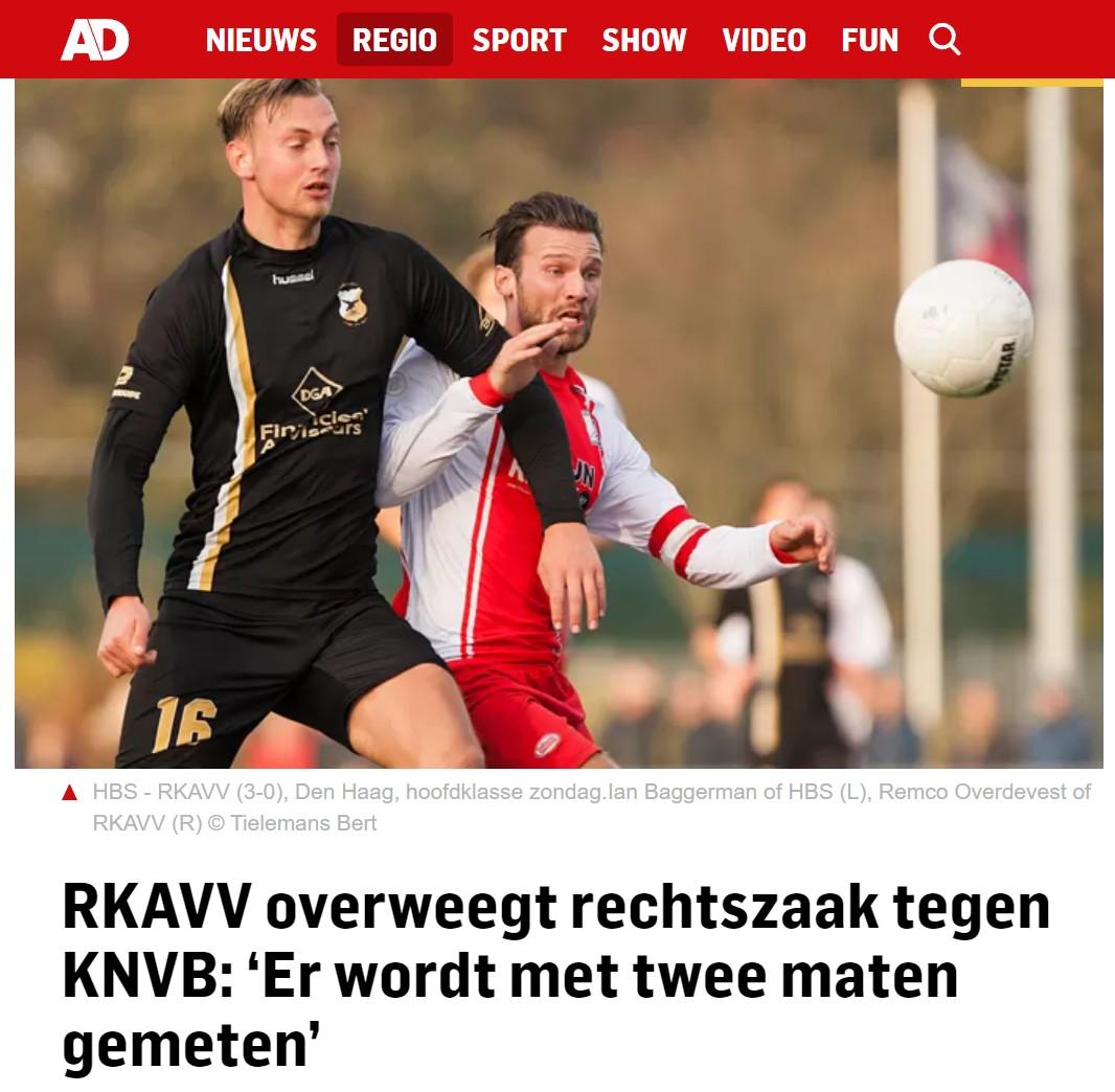 RKAVV overweegt rechtszaak tegen KNVB: 'Er wordt met twee maten gemeten'