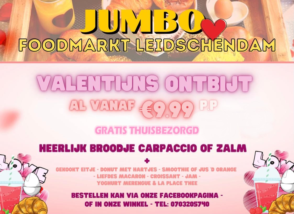 Geef je geliefde(n) een Valentijns ontbijt van LaPlace!