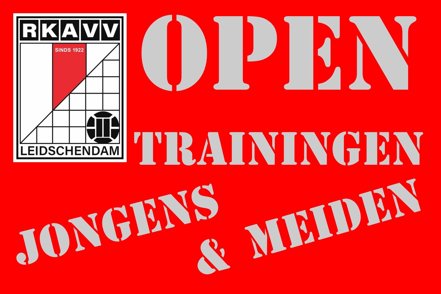 Zaterdag 21 augustus Open Trainingen voor Jongens en Meiden