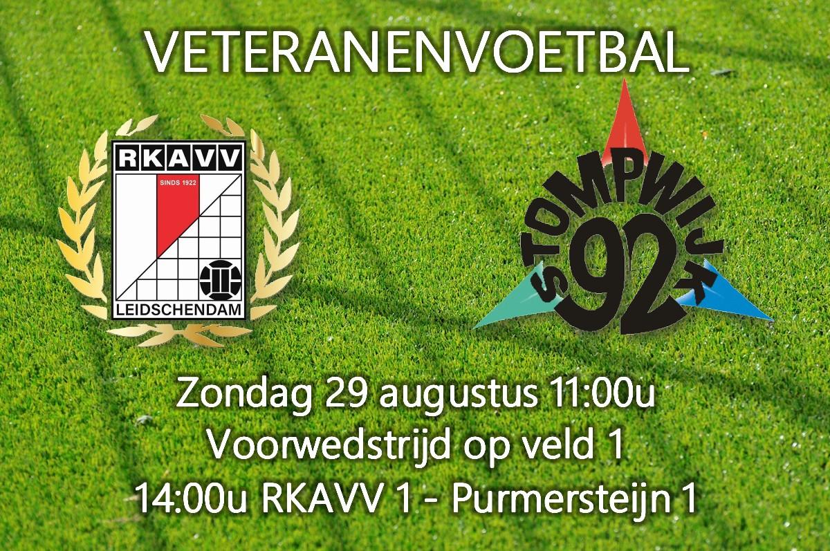 Zondag 11:00u voorwedstrijd Veteranen RKAVV - Stompwijk '92