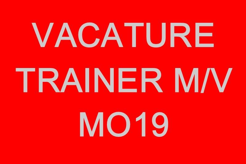 Vacature trainer M/V Meiden Onder 19