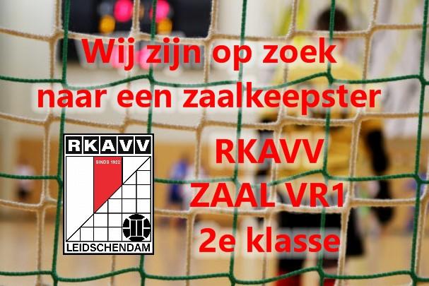 RKAVV Zaal dames 1 zoekt keepster